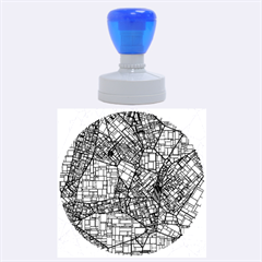 Fantasy City Maps 4 Rubber Round Stamps (large)