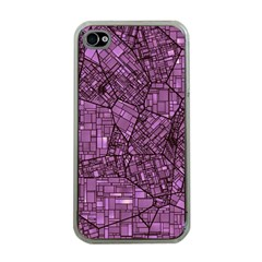 Fantasy City Maps 4 Apple iPhone 4 Case (Clear)