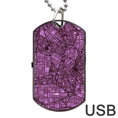 Fantasy City Maps 4 Dog Tag Usb Flash (two Sides)