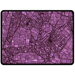 Fantasy City Maps 4 Double Sided Fleece Blanket (Large)