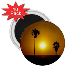 Sunset Scene At The Coast Of Montevideo Uruguay 2 25  Magnets (10 Pack)