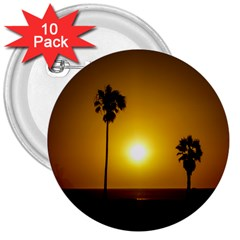 Sunset Scene at the Coast of Montevideo Uruguay 3  Buttons (10 pack)