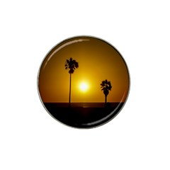Sunset Scene at the Coast of Montevideo Uruguay Hat Clip Ball Marker (10 pack)
