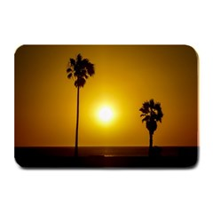 Sunset Scene At The Coast Of Montevideo Uruguay Plate Mats