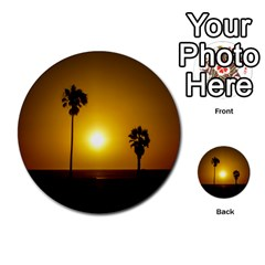 Sunset Scene At The Coast Of Montevideo Uruguay Multi Purpose Cards (round)