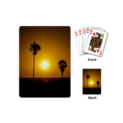 Sunset Scene at the Coast of Montevideo Uruguay Playing Cards (Mini)