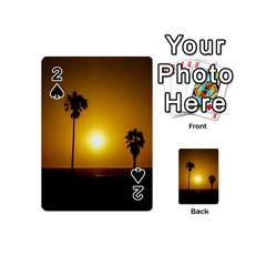 Sunset Scene At The Coast Of Montevideo Uruguay Playing Cards 54 (mini)