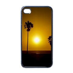 Sunset Scene at the Coast of Montevideo Uruguay Apple iPhone 4 Case (Black)