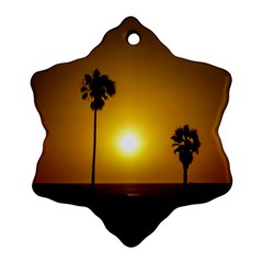 Sunset Scene at the Coast of Montevideo Uruguay Snowflake Ornament (2-Side)