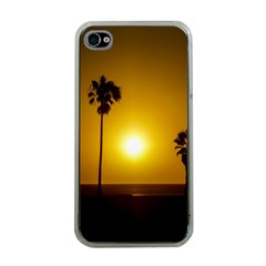 Sunset Scene at the Coast of Montevideo Uruguay Apple iPhone 4 Case (Clear)