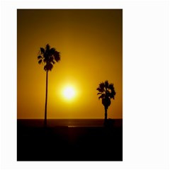 Sunset Scene At The Coast Of Montevideo Uruguay Small Garden Flag (two Sides)