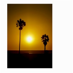 Sunset Scene at the Coast of Montevideo Uruguay Large Garden Flag (Two Sides)