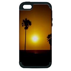 Sunset Scene at the Coast of Montevideo Uruguay Apple iPhone 5 Hardshell Case (PC+Silicone)
