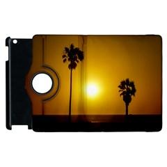 Sunset Scene at the Coast of Montevideo Uruguay Apple iPad 2 Flip 360 Case