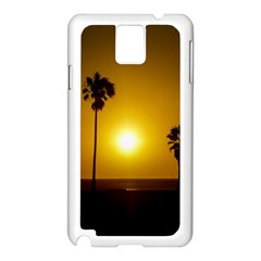 Sunset Scene at the Coast of Montevideo Uruguay Samsung Galaxy Note 3 N9005 Case (White)