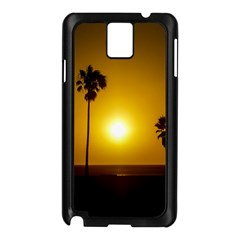 Sunset Scene at the Coast of Montevideo Uruguay Samsung Galaxy Note 3 N9005 Case (Black)