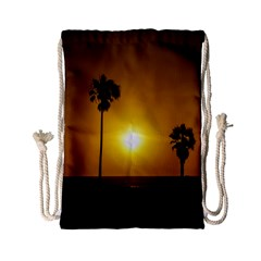 Sunset Scene at the Coast of Montevideo Uruguay Drawstring Bag (Small)