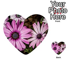 Beautiful Colourful African Daisies  Multi-purpose Cards (Heart)