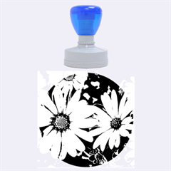 Beautiful Colourful African Daisies  Rubber Round Stamps (Large)