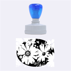 Beautiful Colourful African Daisies  Rubber Oval Stamps