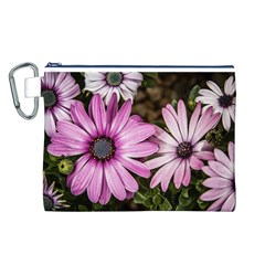 Beautiful Colourful African Daisies  Canvas Cosmetic Bag (L)