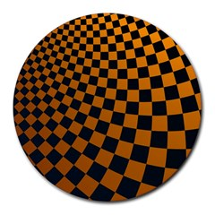 Abstract Square Checkers  Round Mousepads