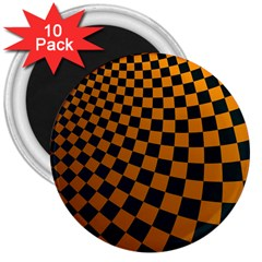 Abstract Square Checkers  3  Magnets (10 Pack)