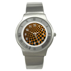Abstract Square Checkers  Stainless Steel Watches