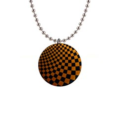 Abstract Square Checkers  Button Necklaces