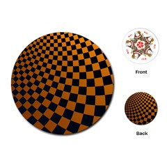 Abstract Square Checkers  Playing Cards (round)