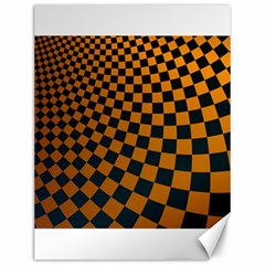 Abstract Square Checkers  Canvas 12  x 16