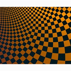 Abstract Square Checkers  Canvas 16  X 20
