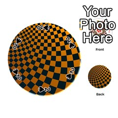 Abstract Square Checkers  Playing Cards 54 (Round)