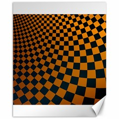Abstract Square Checkers  Canvas 11  X 14