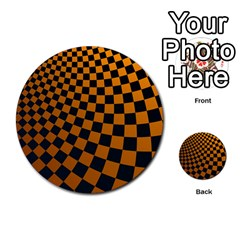 Abstract Square Checkers  Multi-purpose Cards (Round)