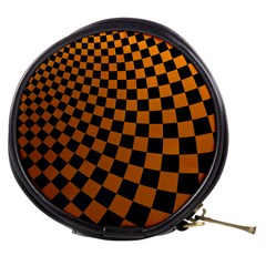Abstract Square Checkers  Mini Makeup Bags