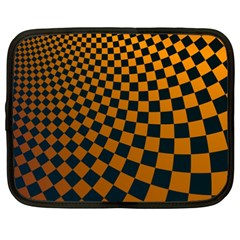 Abstract Square Checkers  Netbook Case (xxl)