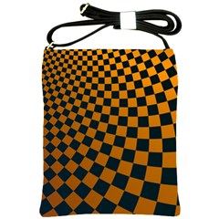 Abstract Square Checkers  Shoulder Sling Bags