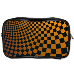 Abstract Square Checkers  Toiletries Bags 2 Side
