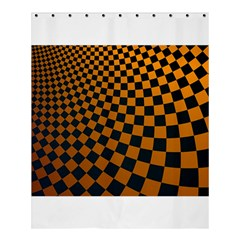 Abstract Square Checkers  Shower Curtain 60  X 72  (medium)