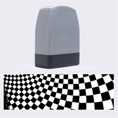 Abstract Square Checkers  Name Stamps