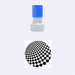 Abstract Square Checkers  Rubber Round Stamps (Small)