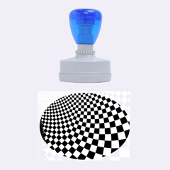 Abstract Square Checkers  Rubber Oval Stamps