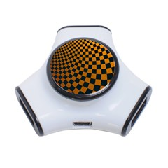 Abstract Square Checkers  3-Port USB Hub
