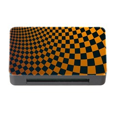 Abstract Square Checkers  Memory Card Reader With Cf