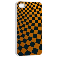 Abstract Square Checkers  Apple Iphone 4/4s Seamless Case (white)
