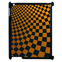 Abstract Square Checkers  Apple iPad 2 Case (Black)
