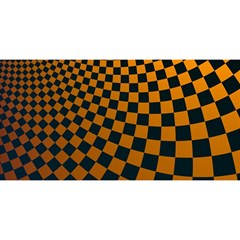 Abstract Square Checkers  You Are Invited 3d Greeting Card (8x4)