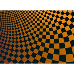 Abstract Square Checkers  Birthday Cake 3D Greeting Card (7x5)