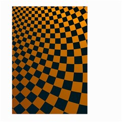 Abstract Square Checkers  Large Garden Flag (Two Sides)